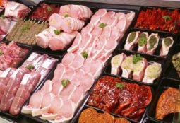 Pork Display in Butcher Shop
